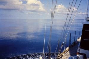 Navegando bajo el anticiclón de las Azores. Fotografía: Alfonso Hernández