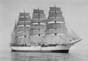 """El """"Herzogin Cecilie"""", uno de los barcos más rápidos y que perteneció a la flota de Erikson"""