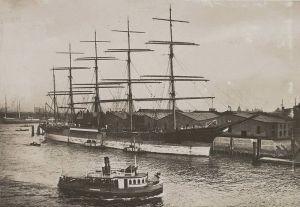 """El """"Potosí"""", uno de los buques de la famosa """"Línea P"""" alemana"""