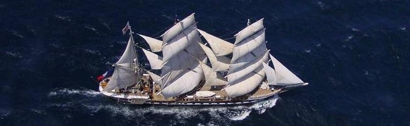 """El """"Belem"""", buque francés, a toda vela"""