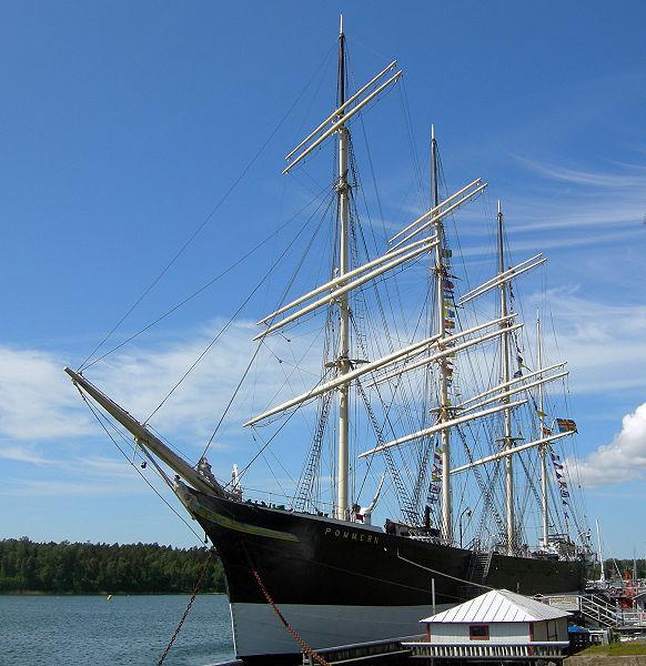 """El """"Pommern"""", actualmente museo flotante en las islas Äland (Finlandia)"""