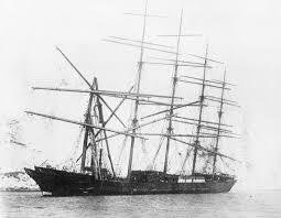 """El """"Preussen"""", embarrancado y desarbolado en Dover"""