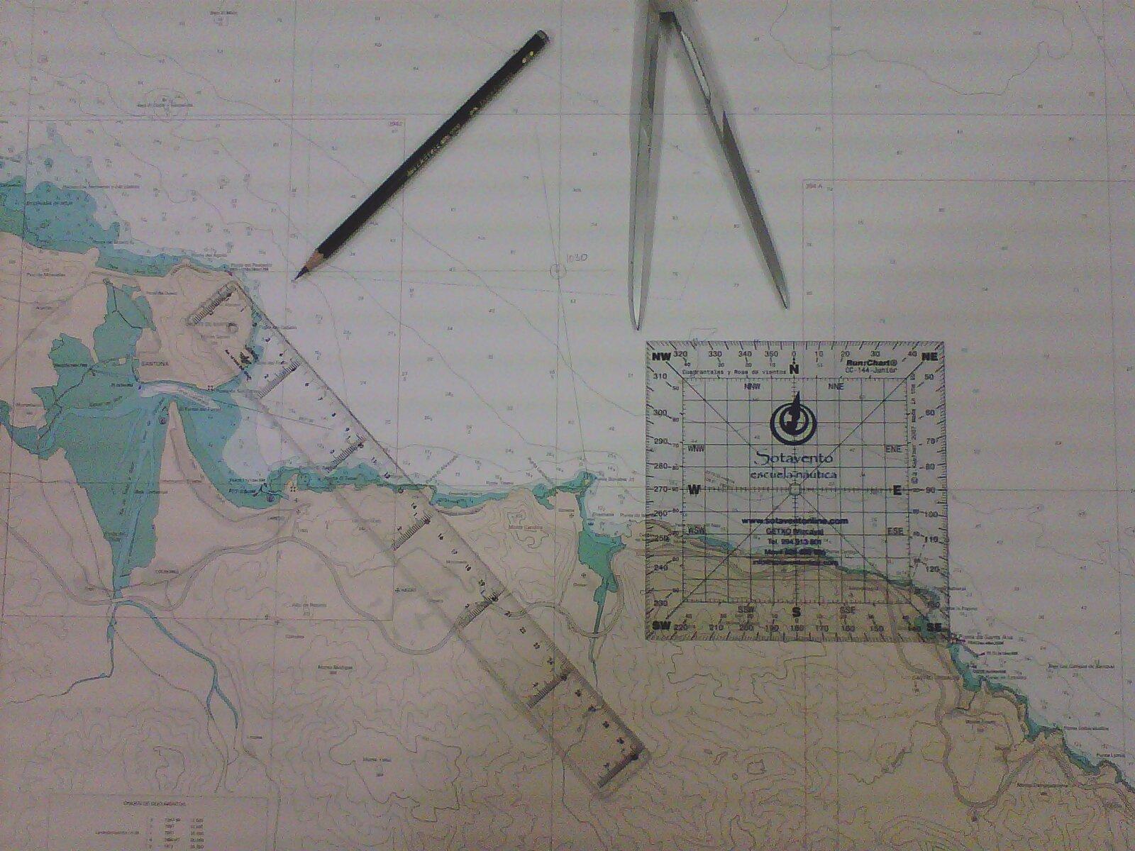 La carta de papel sigue siendo un elemento básico para poder saber por dónde navegamos
